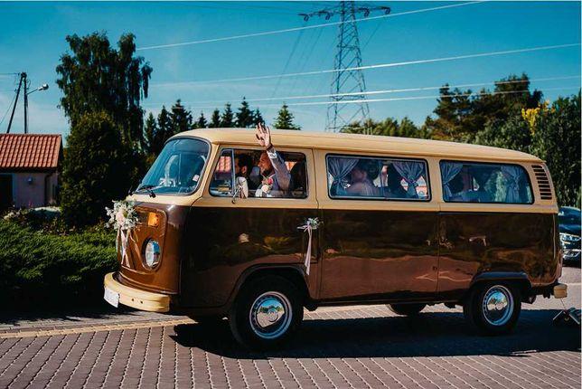 Kultowy Ogórek VW T2 1978 - wynajem na sesje, eventy i auto do ślubu