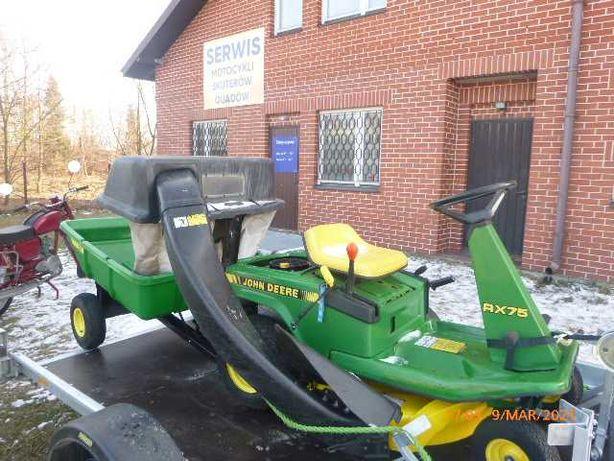 John Deere /Kosiarka traktorek  ogrodowy z  przyczepką