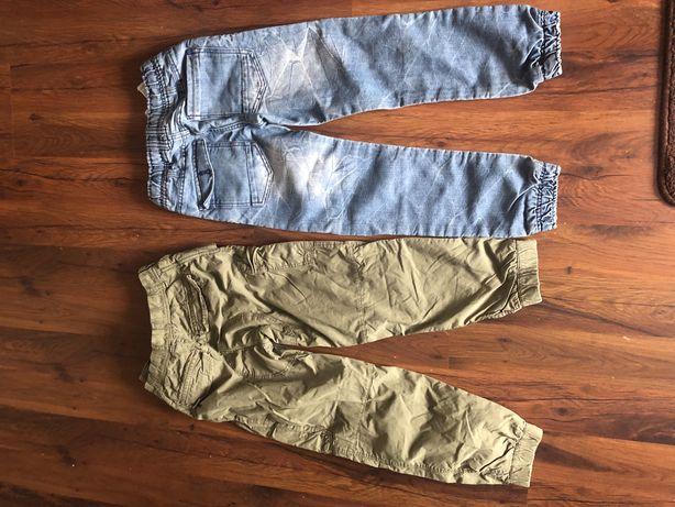 Spodnie chłopięce 134 (2 szt) + gratis