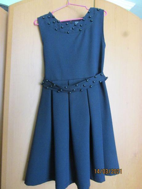 Плаття-сарафан шкільний синього кольору