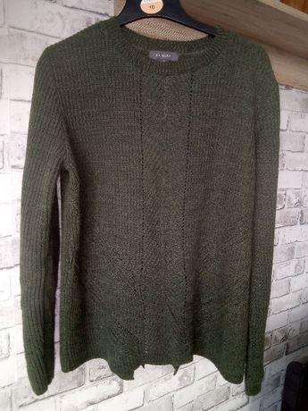 Sweterek damski butelkowa zieleń modny fajny