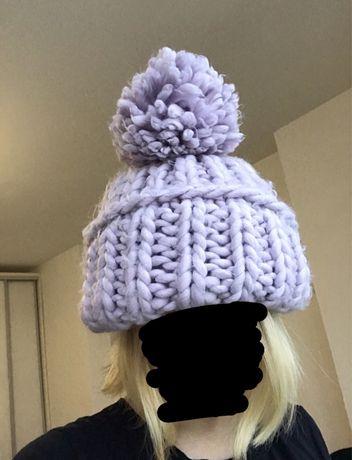 Шапка Хельсинки из крупной вязки зимняя