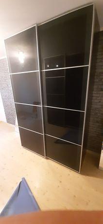 Szafa IKEA PAX czarna, przesuwna