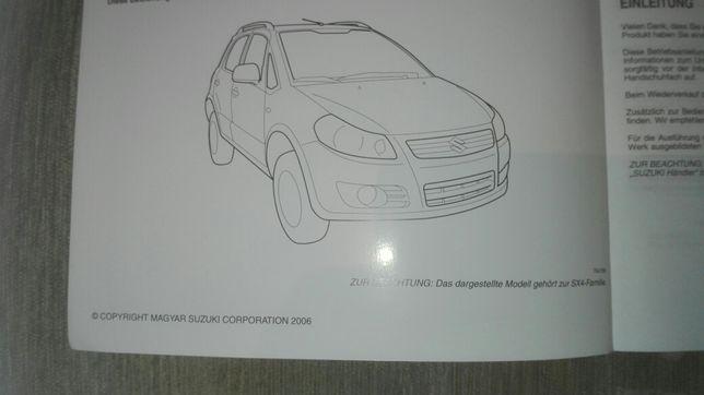Suzuki SX4, instrukcja obsługi, po niemiecku