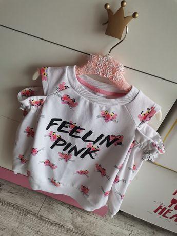 Bluza Reserved różowa pantera 110