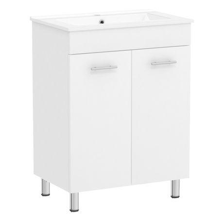 Комплект VOLLE MARO мебели 60см белый: тумба напольная + умывальник