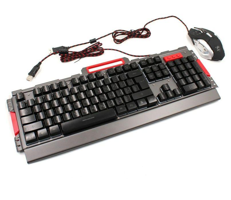 Игровая клавиатура LED Gaming + мышка Краматорск - изображение 1