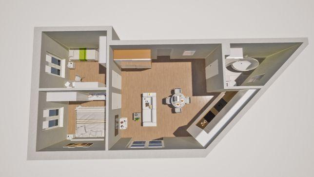 Nowoczesne mieszkanie 57mkw , I piętro