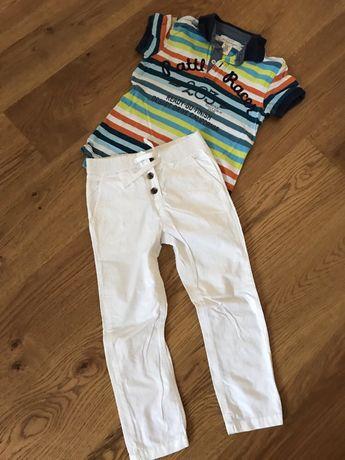 Zara spodnie (wieksze) HM polo super zestaw 122 - 128 wiek 6-8 lat