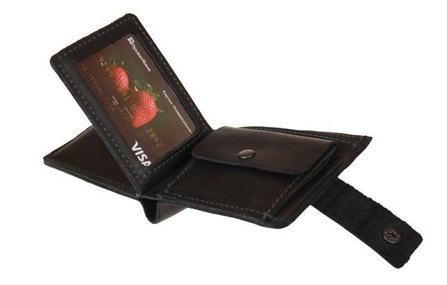 Мужской кожаный кошелёк портмоне ручная работа натуральная кожа