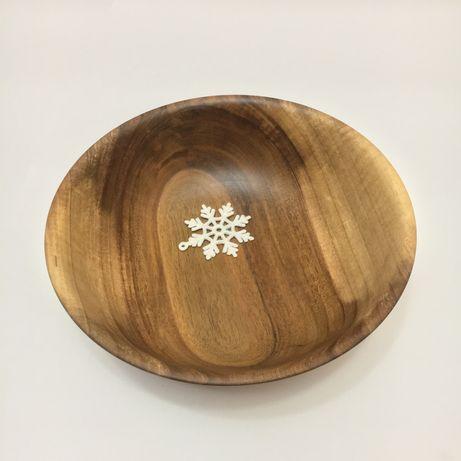 Чаша Салатник Миска Тарелка деревянная