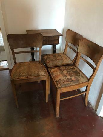 Krzesła - komplet 3 sztuki (cena za 1 szt.) - antyk drewniane, zabytek