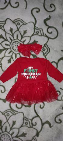 Боди-платье новогоднее