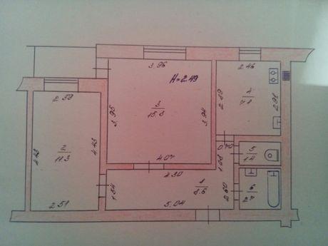 Продам двушку на Достоевского,квартира, Первомайск