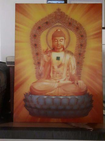 Quadro  Buda em efeito 3D