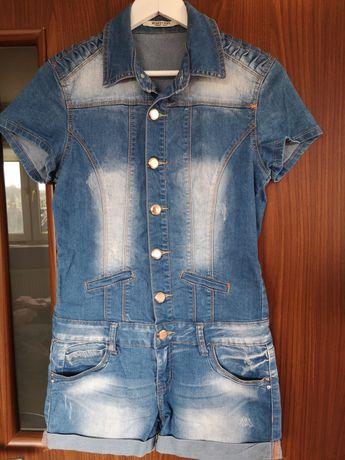 Śliczny kombinezon damski jeans jak nowy M