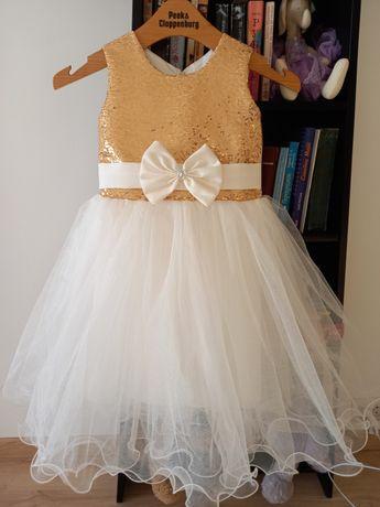 Платье нарядное фатин-золото