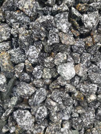 """Grys """"Kośmin"""" Sjenit Granodioryt, czarno biały 16-22, kamienie ozdobne"""