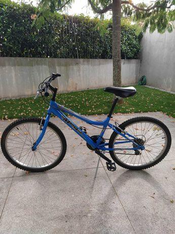 "Bicicleta MEGA BTT Roda 24"" Azul"