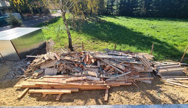 Sprzedam drewno po budowie, deski szalunkowe, deski impregnowane