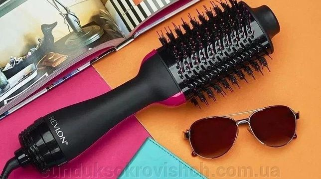 Фен-щетка для укладки волос 3 в 1 One step Hot air, ионная технология