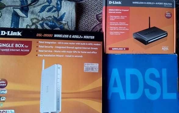 блок питания 12в  + роутер Wi-Fi D-link 2640u 2650u