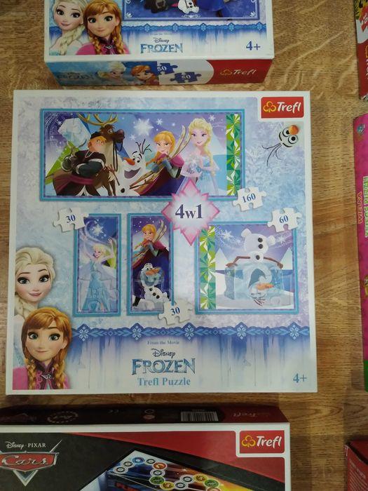 Puzzle Kraina Lodu, Anna i Elza 4w1 Chodzież - image 1