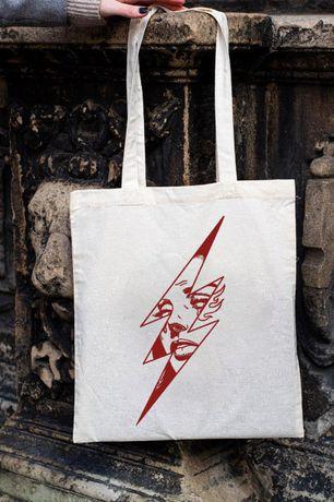 Torba bawelniana, ECO torba na zakupy blyskawica dziewczyna