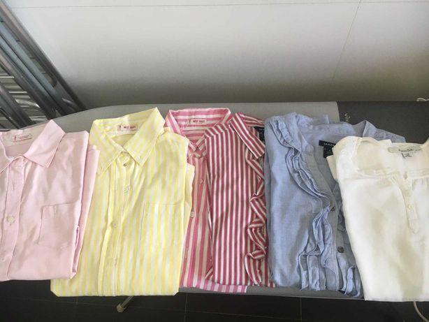 Lote de 6 camisas de menina (11/12 anos)