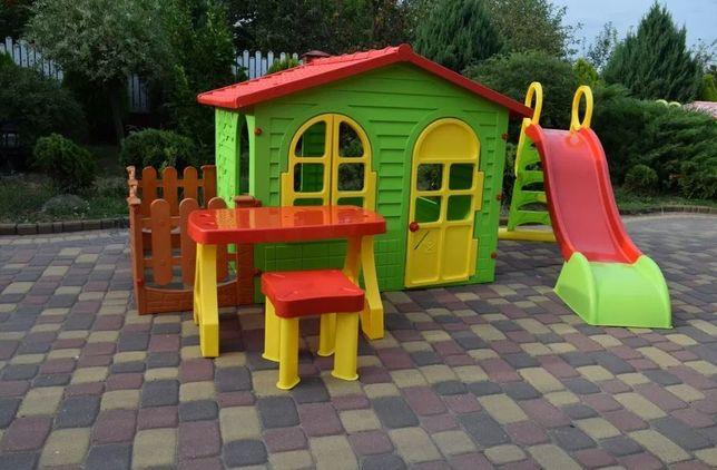Дитячий будиночок, детский домик, садовый домик + дитяча гірка, горка