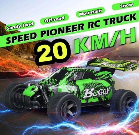 Buggy RC eléctrico (Atinge 20 Km/h) 2.4GHz c/controlo e bateria 500mAh