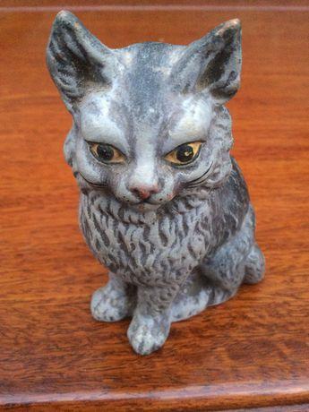 Gato em terracota Caldas da Rainha Antigo 10 cm