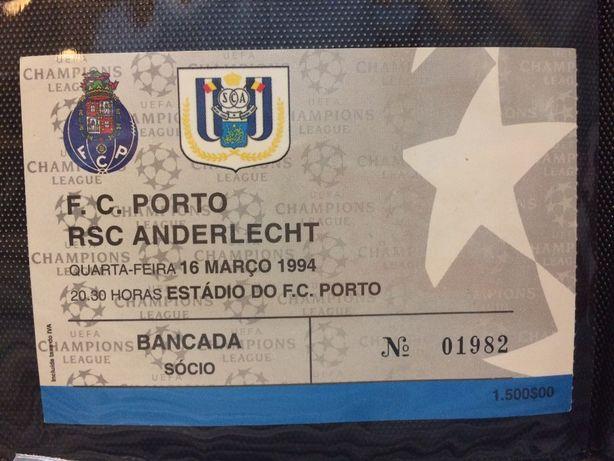 Bilhete FC Porto Vs RSC Anderlecht