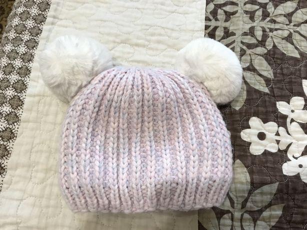 Теплая шапка на 0-3 месяца