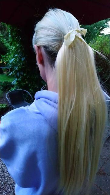 Kucyk doczepy włosy syntetyczne 65 cm + gratis