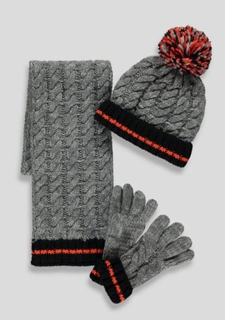 Набір шапка, шарф, рукавички для хлопчика Matalan