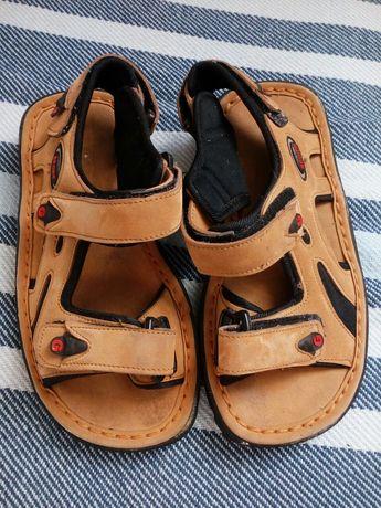 Sandałki, buty letnie Sport G, beżowe, rozmiar 36 (22cm)