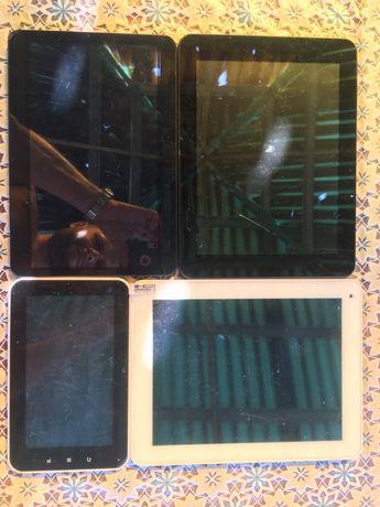 Продам 4 планшета на запчасти или востонавления