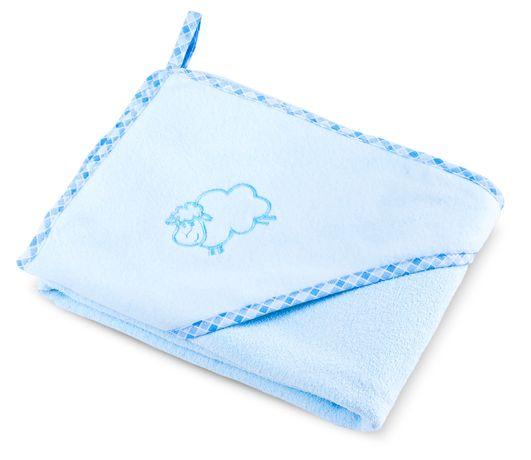 Bocioland Okrycie Kąpielowe Ręcznik Z Kapturkiem 80X80Cm Blue 0035