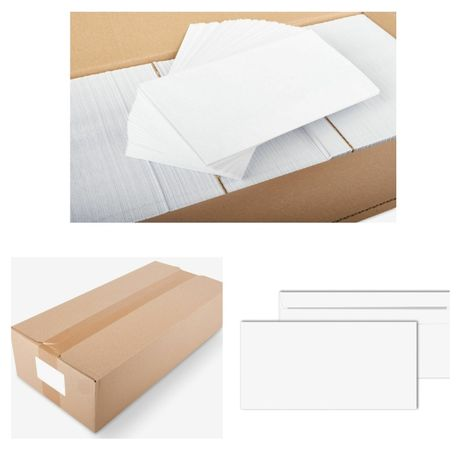 1000 Envelopes DIN 110x220mm com Fecho para Envio (Correio) | Cartas