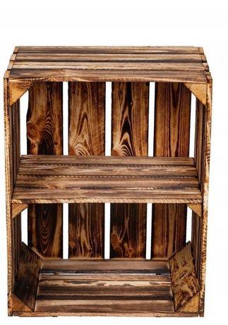 Drewniana skrzynka opalana