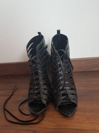Sandały sznurowane skórzane ZARA r. 37