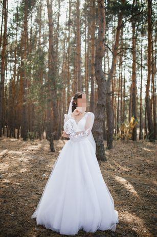 Белое свадебное платье/ весільна сукня 2020