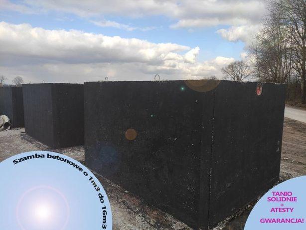 Szambo betonowe szamba zbiorniki na 6 deszczówkę gnojowicę 10m3 12 8 5