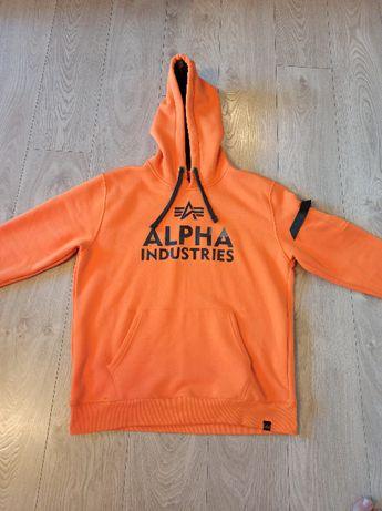 Oryginalna bluza Alpha Industries pomarańczowa - rozmiar XL