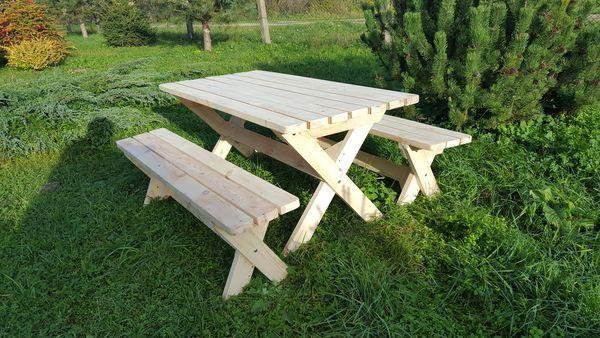 Meble Ogrodowe-Solidnie wykonane- ławki bez oparcia- Producent Elbląg
