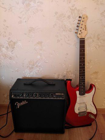 Gitara elektryczna Harley Benton plus wzmacniacz fender 50