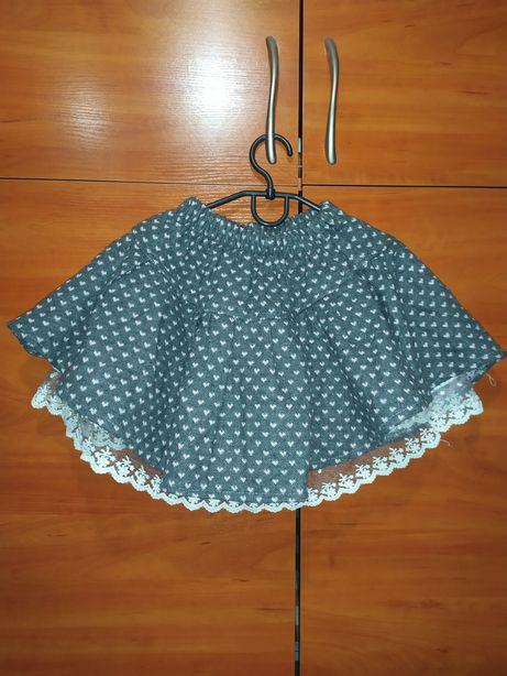 Красивая пышная нарядная ажурная юбка.