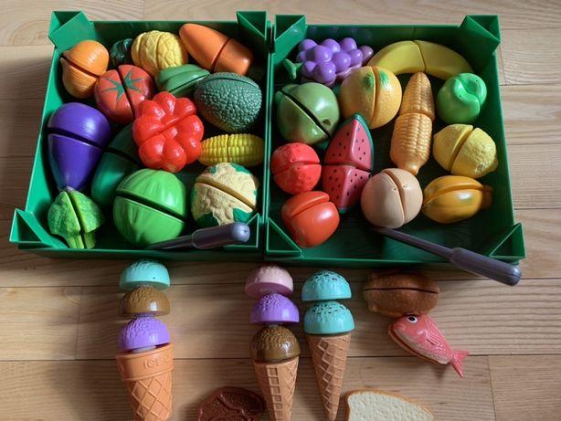 Plastikowe warzywa i owoce Mothercare