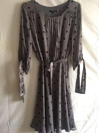 Sukienka w grochy , rekaw 3/4 , rozmiar S